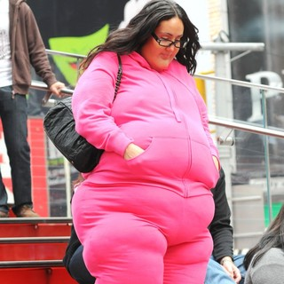 Melissa Gorga in Melissa Gorga Goes Undercover for Entertainment Tonight and Wears a Fat Suit