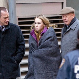 Dann Florek in The Film Set of Law and Order: Special Victims Unit - meloni-florek-set-law-and-order-svu-04