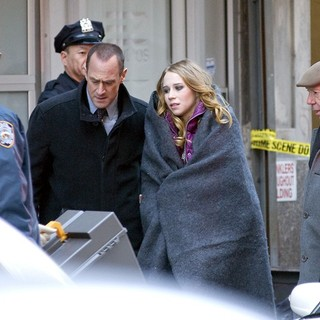 Dann Florek in The Film Set of Law and Order: Special Victims Unit - meloni-florek-set-law-and-order-svu-07