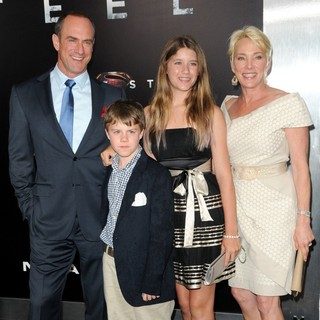Christopher Meloni, Dante Meloni, Sophia Eva Pietra Meloni, Sherman Williams in World Premiere of Man of Steel - Arrivals