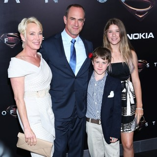 Sherman Williams, Christopher Meloni, Dante Meloni, Sophia Eva Pietra Meloni in World Premiere of Man of Steel - Arrivals