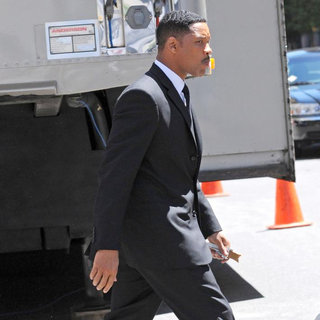 Will Smith - On The Set of 'Men in Black 3' Shooting in NYC