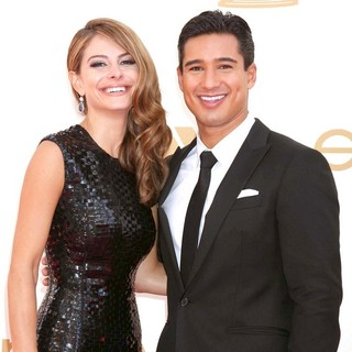 Maria Menounos, Mario Lopez in The 63rd Primetime Emmy Awards - Arrivals