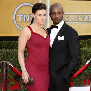 Idina Menzel, Taye Diggs in 19th Annual Screen Actors Guild Awards - Arrivals