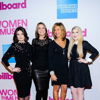 Idina Menzel, Savannah Guthrie, Hoda Kotb, Meghan Trainor in Billboard Women in Music Luncheon 2014