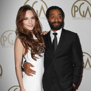 Sari Mercer, Chiwetel Ejiofor in The 25th Annual Producer Guild of America Awards - Arrivals