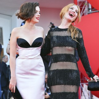 Roxane Mesquida, Josephine de la Baume in The 69th Venice Film Festival - The Company You Keep - Premiere - Red Carpet