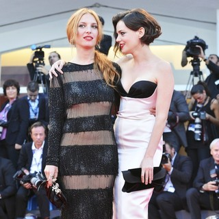Josephine de la Baume, Roxane Mesquida in The 69th Venice Film Festival - The Company You Keep - Premiere - Red Carpet