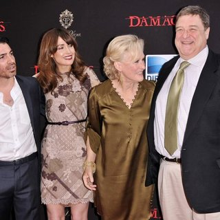 Chris Messina, Rose Byrne, Glenn Close, John Goodman in Damages Season 4 Premiere - Arrivals