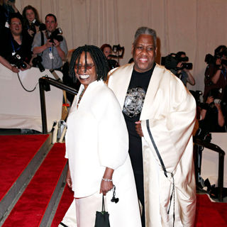 Whoopi Goldberg, Andre Leon Talley in The Costume Institute Gala Benefit