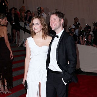 Emma Watson, Christopher Bailey in The Costume Institute Gala Benefit