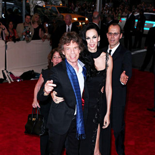 Mick Jagger, L'Wren Scott in The Costume Institute Gala Benefit
