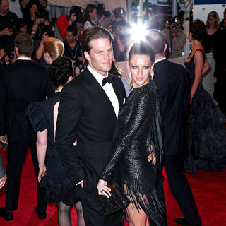 Tom Brady, Gisele Bundchen in The Costume Institute Gala Benefit