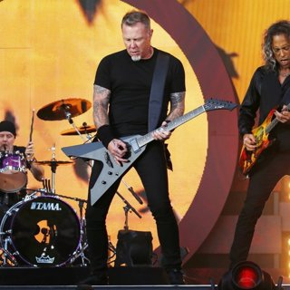 Lars Ulrich, James Hetfield, Kirk Hammett, Metallica-Global Citizen Festival 2016