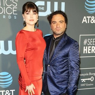 Alaina Meyer, Johnny Galecki in 24th Annual Critic's Choice Awards - Arrivals