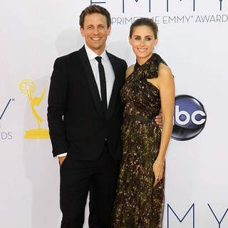 Seth Meyers, Alexi Ashe in 64th Annual Primetime Emmy Awards - Arrivals