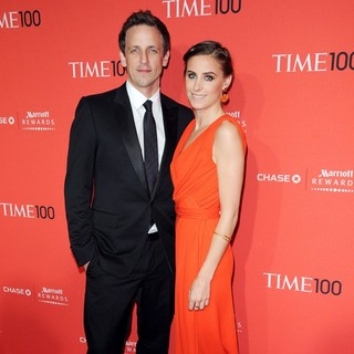 Seth Meyers, Alexi Ashe in The Time 100 Gala - Inside Arrivals