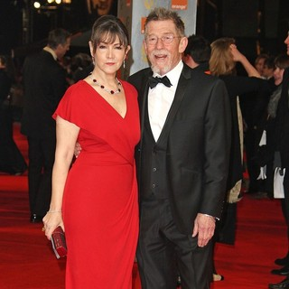Ann Rees Meyers, John Hurt in Orange British Academy Film Awards 2012 - Arrivals