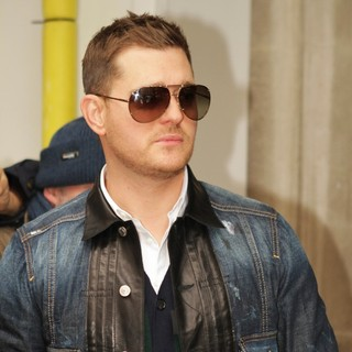 Michael Buble in Michael Buble Is Seen Arriving at BBC Radio 2 Studios