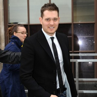 Michael Buble in Michael Buble Outside The BBC Radio 1 Studios