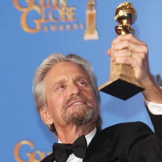 Michael Douglas in 71st Annual Golden Globes - Press Room