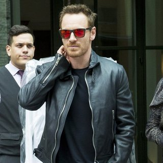 Michael Fassbender in Michael Fassbender Out and About