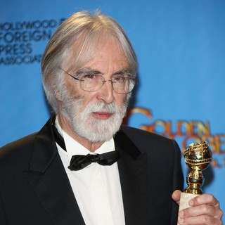 Michael Haneke in 70th Annual Golden Globe Awards - Press Room