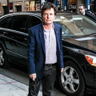 Michael J. Fox in Celebrities for The Late Show with David Letterman