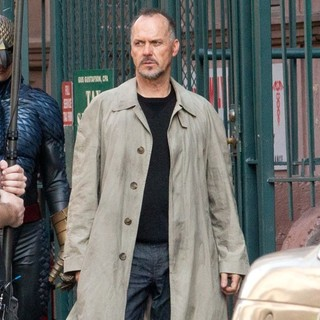 Michael Keaton in Filming Scenes for Movie Birdman on Location