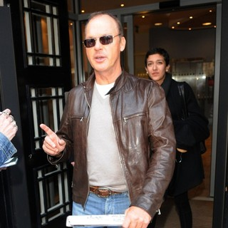 Michael Keaton in Michael Keaton Leaves BBC Radio 2 Studios