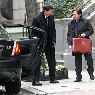 Michael J. Fox in Michael J. Fox Shooting on The Set of 'The Good Wife'