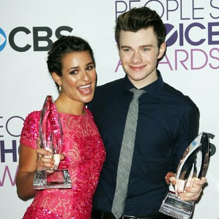 Lea Michele, Chris Colfer in People's Choice Awards 2013 - Press Room