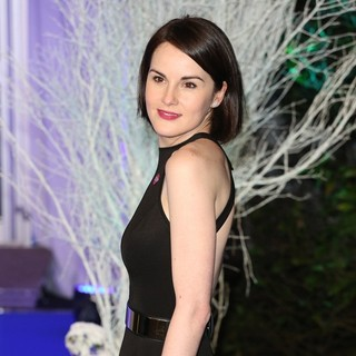 Michelle Dockery in Winter Whites Gala Dinner - Arrivals
