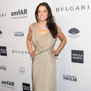 Michelle Rodriguez in Mercedes-Benz 2014 amfAR Gala