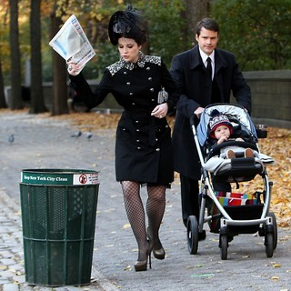 Michelle Trachtenberg in On The Set of Gossip Girl