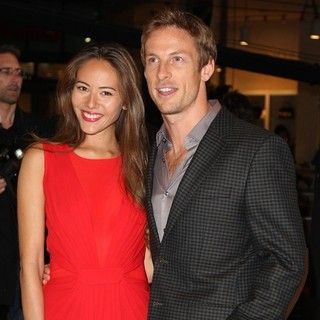 Jenson Button in The Twilight Saga's Breaking Dawn Part I UK Film Premiere - Arrivals - michibata-button-uk-premiere-breaking-dawn-1-01