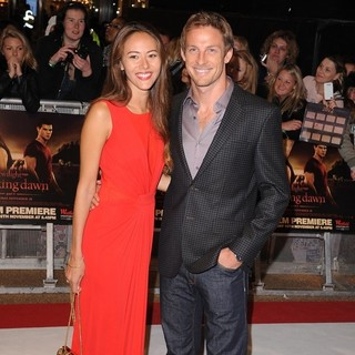 Jenson Button in The Twilight Saga's Breaking Dawn Part I UK Film Premiere - Arrivals - michibata-button-uk-premiere-breaking-dawn-1-02