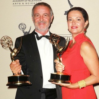 Mario Michisanti, Francesca Tampieri in 2012 Creative Arts Emmy Awards - Press Room