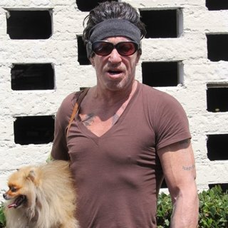 Mickey Rourke Goes for Coffee