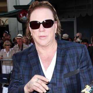 Mickey Rourke - Mickey Rourke Is Honoured with A Hand and Footprint Ceremony