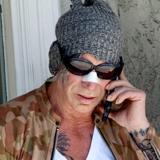 Mickey Rourke Seen on Brighton Way