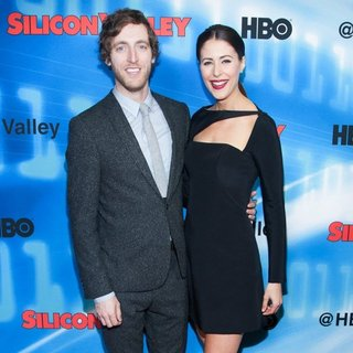 Thomas Middleditch, Amanda Crew in HBO Original Series Silicon Valley Bay Are Premiere