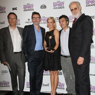 Richard Middleton, Michel Hazanavicius, Penelope Ann Miller, Thomas Langmann, James Cromwell in 27th Annual Independent Spirit Awards - Press Room