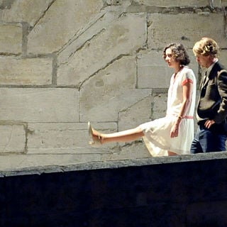 Marion Cotillard, Owen Wilson in On The Set of The New Film 'Midnight in Paris' on The Dock of Seine