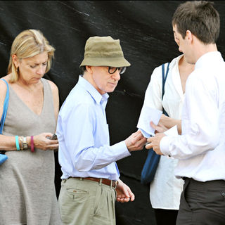 Woody Allen in On The Set of His New Film 'Midnight in Paris' at Restaurant Laperouse