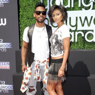 Miguel, Nazanin Mandi in 2013 Young Hollywood Awards - Red Carpet