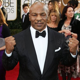 Mike Tyson in 71st Annual Golden Globe Awards - Arrivals