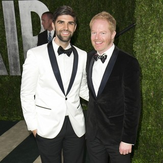 Justin Mikita, Jesse Tyler Ferguson in 2013 Vanity Fair Oscar Party - Arrivals