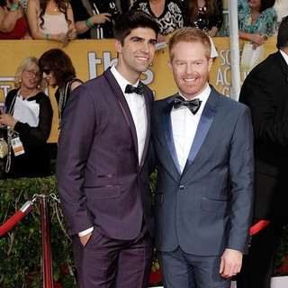 Justin Mikita, Jesse Tyler Ferguson in The 20th Annual Screen Actors Guild Awards - Arrivals