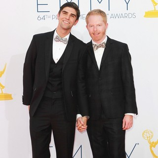 Justin Mikita, Jesse Tyler Ferguson in 64th Annual Primetime Emmy Awards - Arrivals